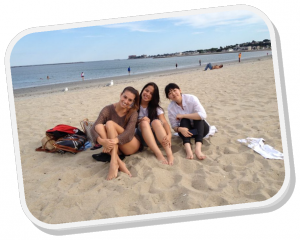 Juah and friends at the beach