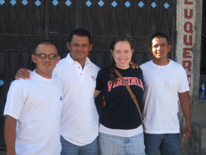 Katherine in El Salvador with her 1st ESL students!