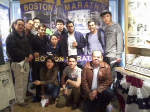 Low-Intermediate English Class at the Marathon exhibit