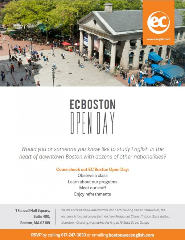 Learn English in Boston with EC