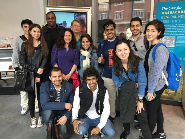 Students learning English in Boston visit Massachusetts General Hospital Museum