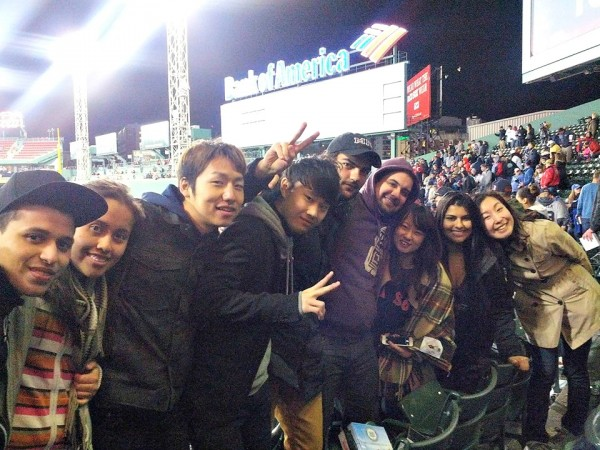 Red Sox Fever  - Students learning English in Boston watch Red Sox match