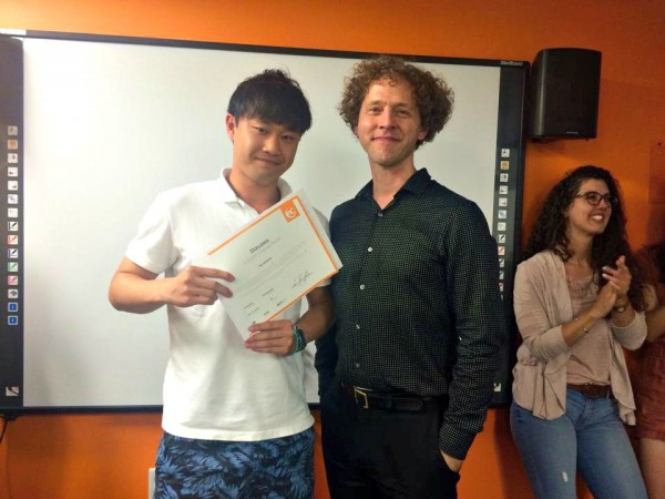 Ryo Hasimoto's Academic Year Intensive English graduation at EC Boston