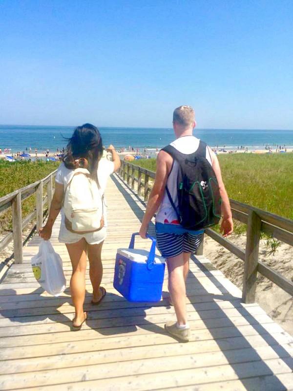 Students learning English at EC Boston visit Crane Beach!