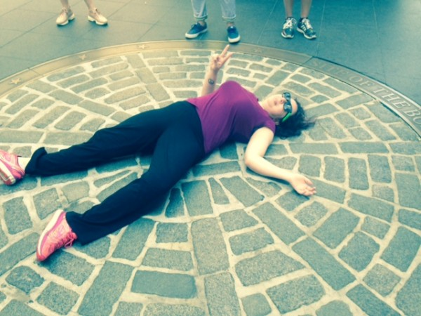 EC Boston English Teacher Jenna takes class to visit Boston Massacre site