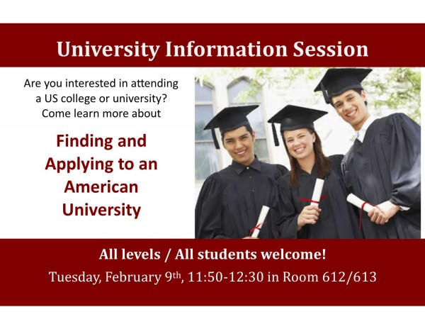 University Information Session at EC Boston English Language Center