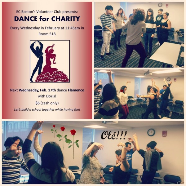 Flamenco for Charity at EC Boston English School