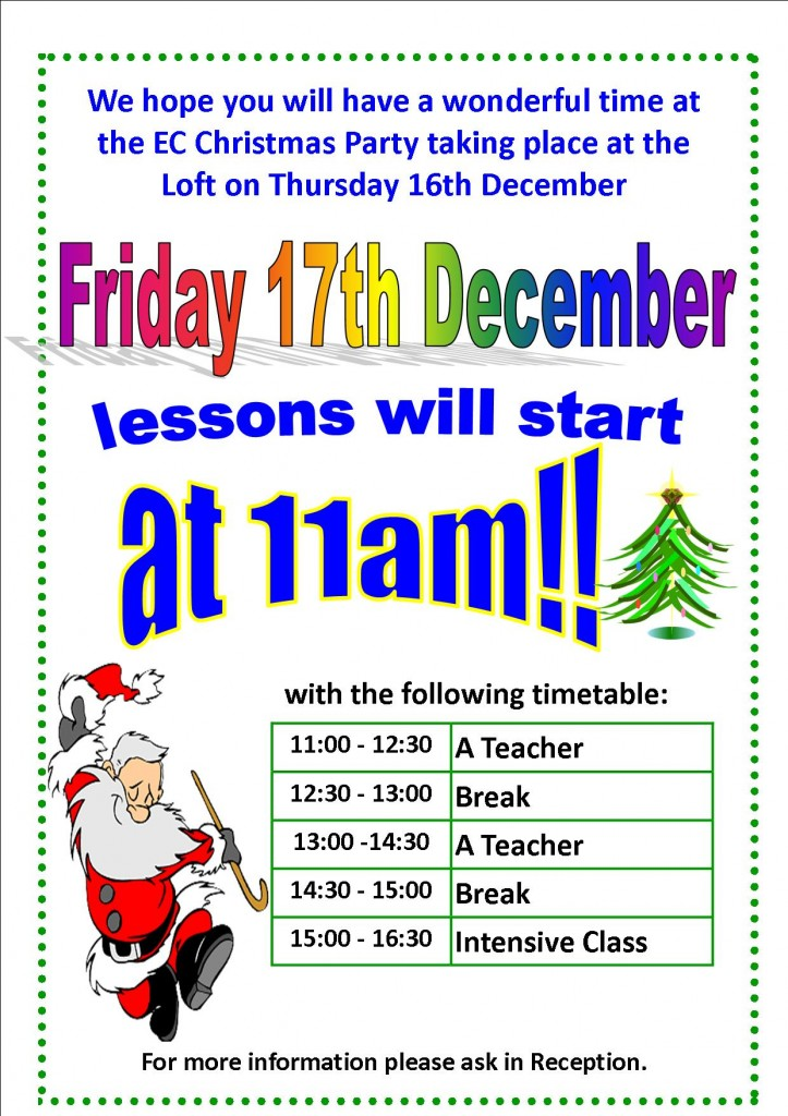 lessons-friday-17th-dec