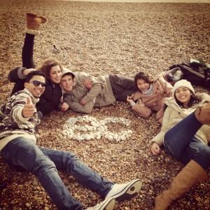 EC Students on Brighton Beach