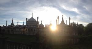 Spring sunrise over the Royal Pavilion, Brighton
