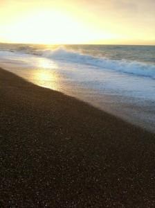 Mid-winter sunrise looking towards Brighton Marina