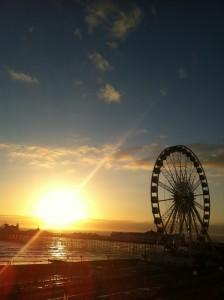Mid-winter sunset over Brighton Pier
