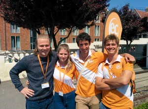 L-R: Jacques (Leisure Programme Manager), Charlotte (Social Leader), Max  (Social Leader) and Niko  (Social Leader).