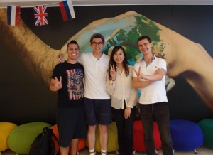 Danilo, Taku, Angela (teacher!) and Miroslav