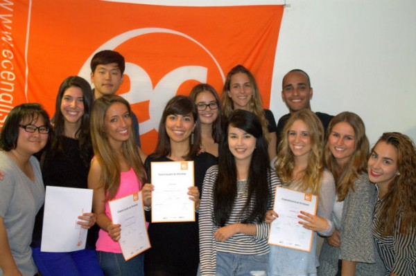Carolina Garcia & Carolina Nieto with their certificates for studying English at EC Brighton