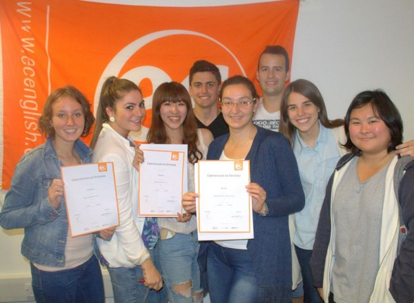 Students attending English classes at EC Brighton