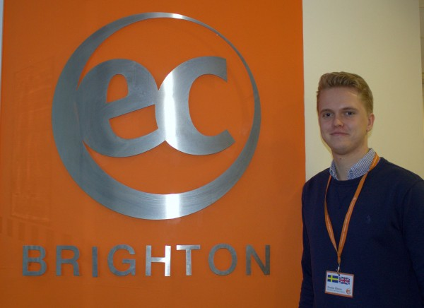 Gustav is a new intern at EC Brighton English School