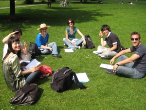 EC Students in Park