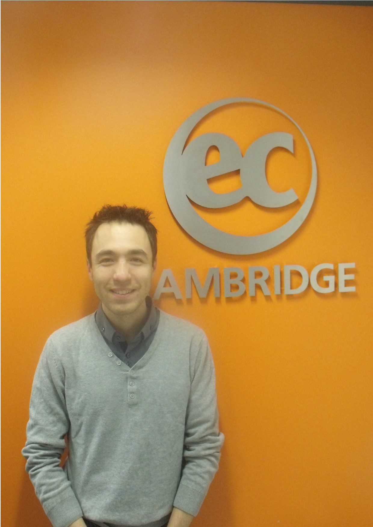 Jeremy from France studies General English at EC Cambridge