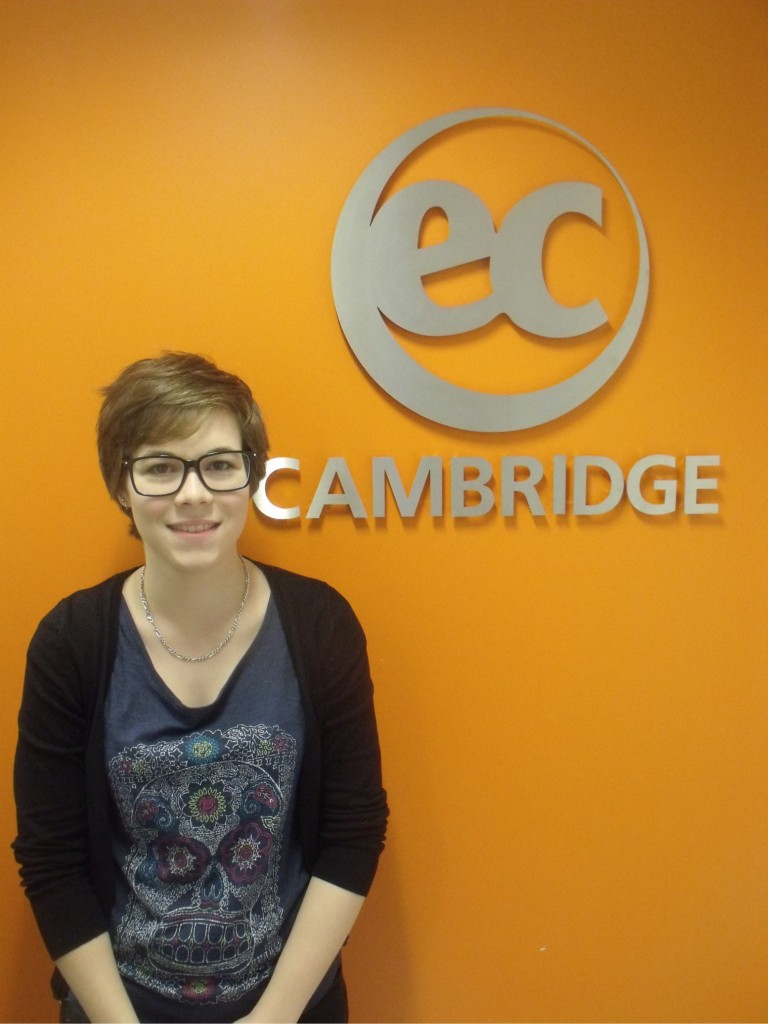 Benedicte from Switzerland studies Intensive English at EC Cambridge