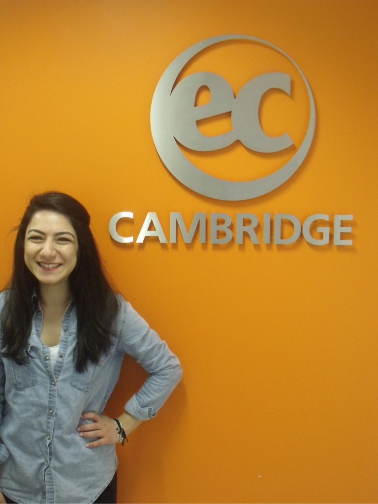 Ezgi from Turkey studies Cambridge ESOL at EC Cambridge