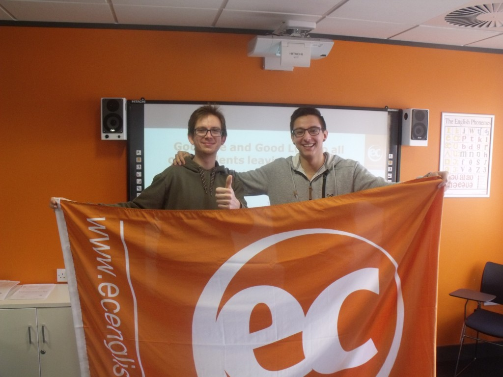 Dario and Alex studied English at EC Cambridge