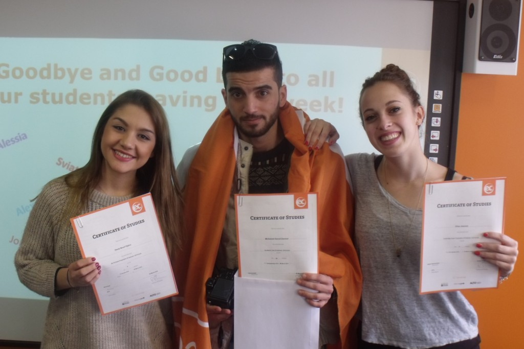 Elisa and Mohammed studied English at EC Cambridge