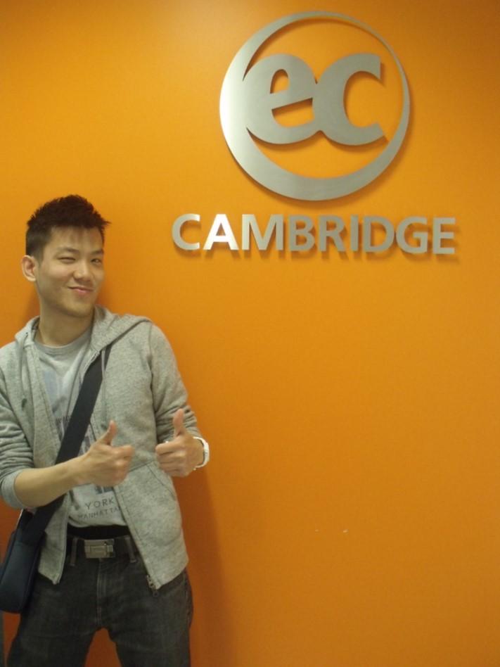 Alex studies General English at EC Cambridge