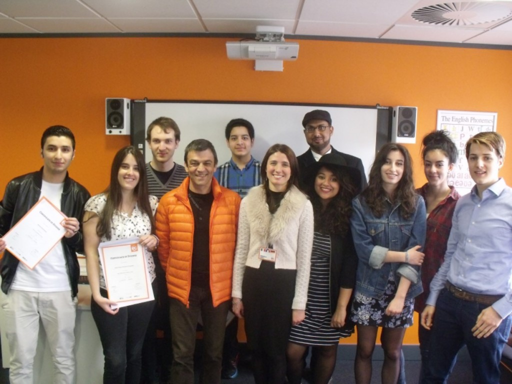 Students with Certificates at EC Cambridge