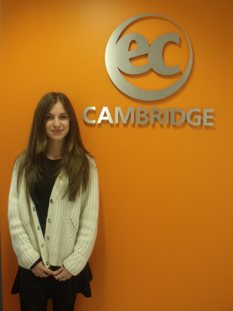 Ilaria from Italy studies Intensive English at EC Cambridge