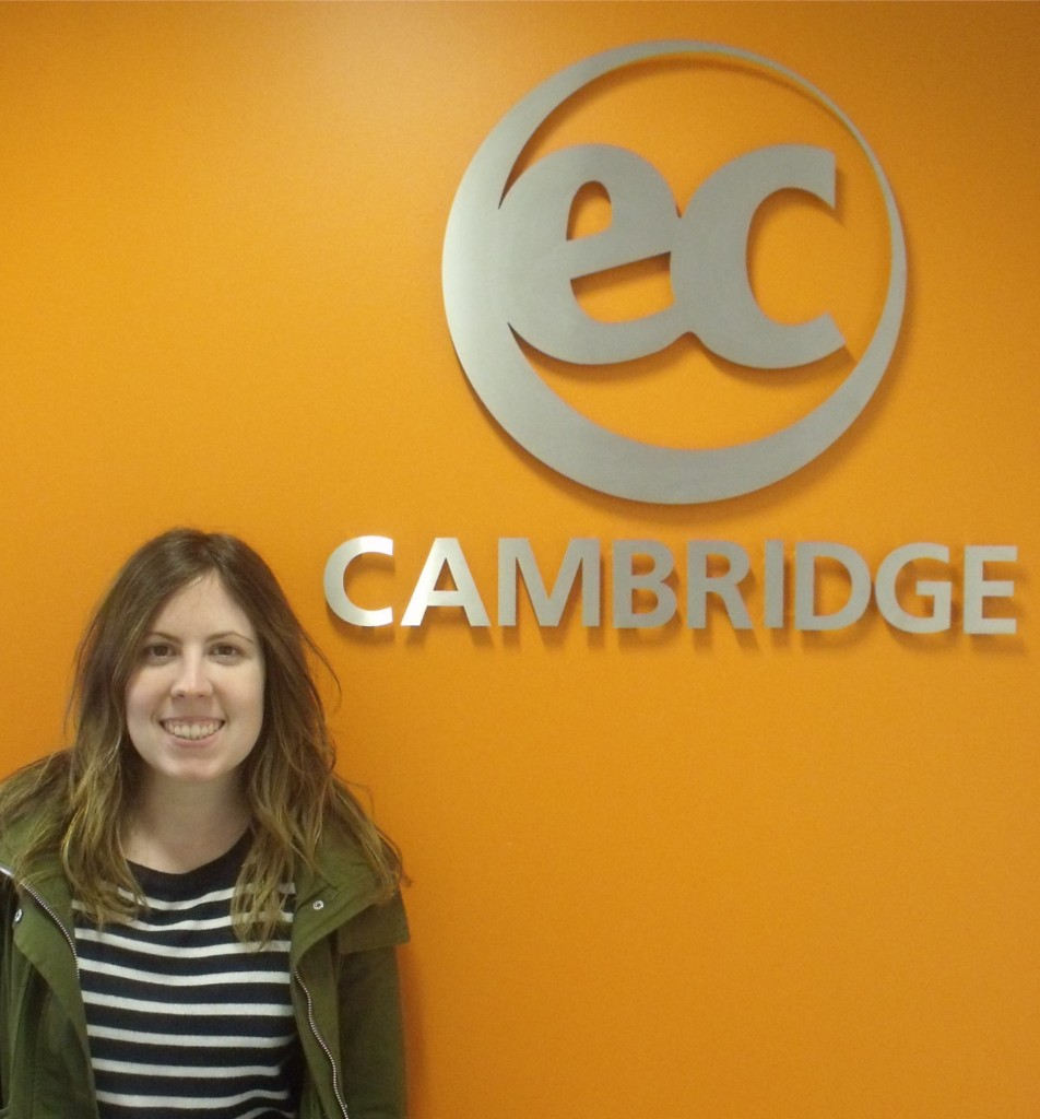 Isabel from Spain studies Intensive English in Cambridge with EC