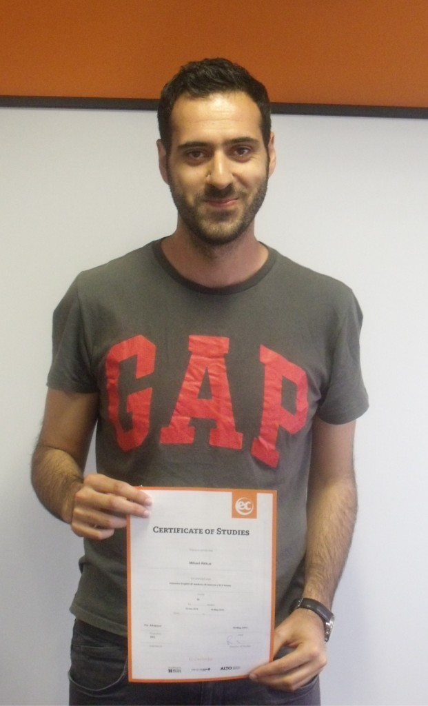 Mikael from Turkey studies Cambridge IELTS at EC
