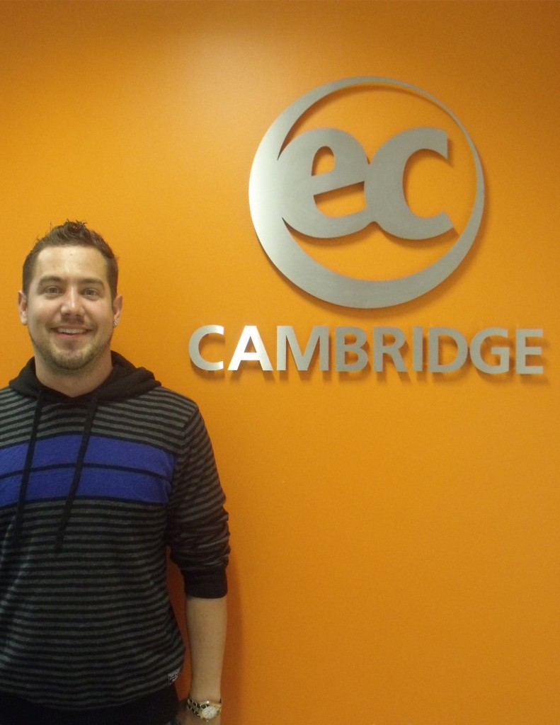 Pascal studies Intensive English in Cambridge with EC