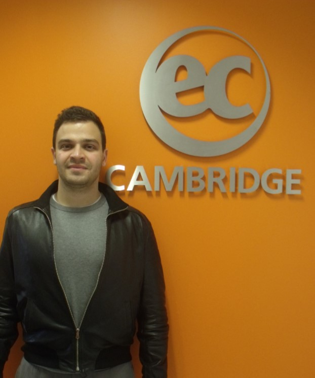 Lorenzo studies IELTS at EC Cambridge