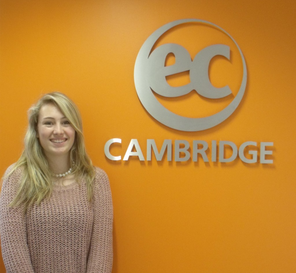 Sarah from France studies General English in Cambridge with EC