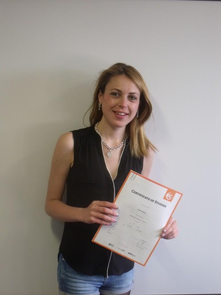 Giulia studies Cambridge IELTS at EC Cambridge