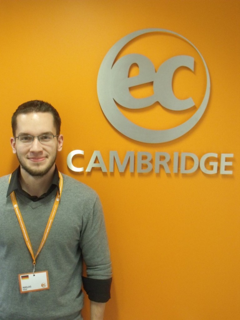 Niklas at EC Cambridge