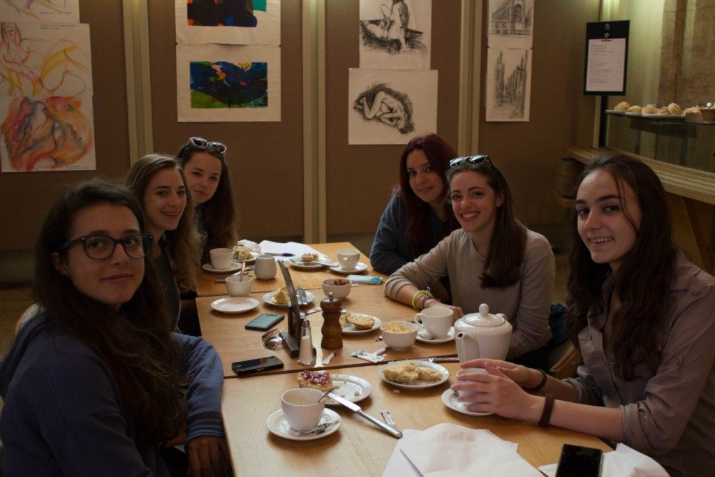 EC Cambridge Young Learners Enjoying a Traditional Cream Tea