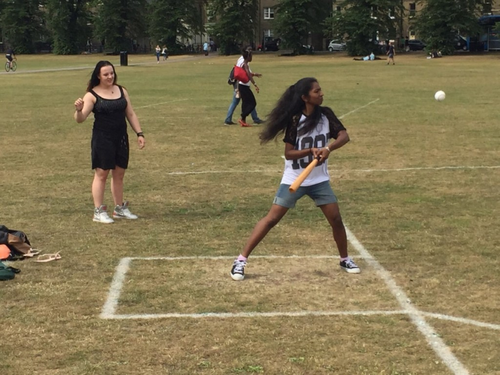 Students playing Rounders at EC Cambridge