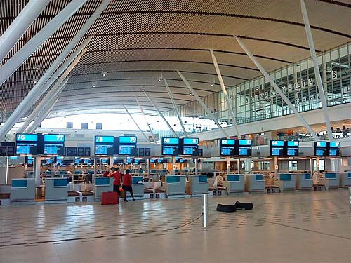 Check-in counters at CPT
