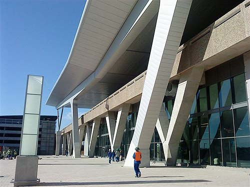 Entrance to departure building