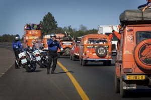 The convoy travelling from Durban to Cape Town