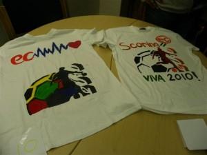 The winning T-shirt (right)
