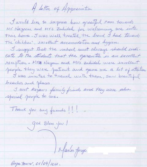 Student testimonial living with a host family ec cape town blog student testimonial living with a host family expocarfo Image collections