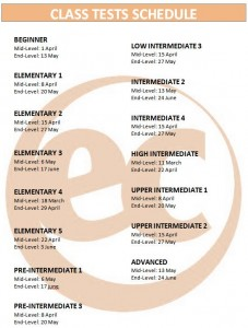 Class Test Dates
