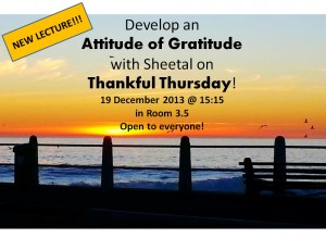 Develop an Attitude of Gratitude Poster