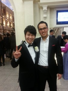 """Yong"" (right) from South Korea"