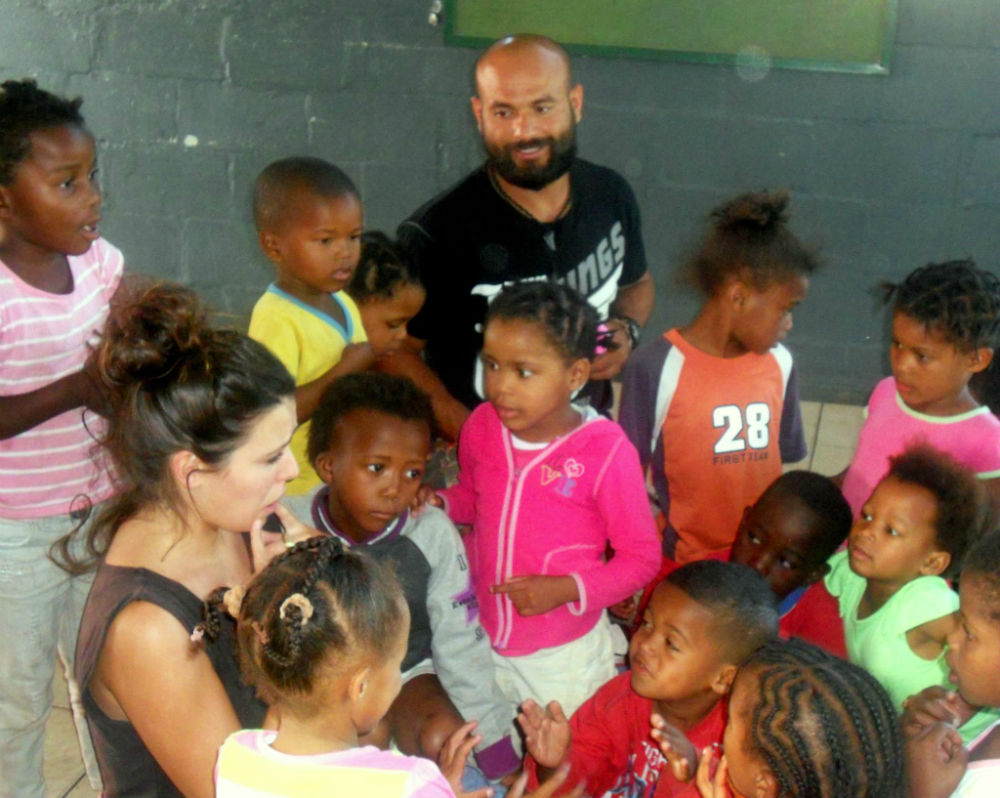 EC Cape Town students with kids from Rainbow Dreamers