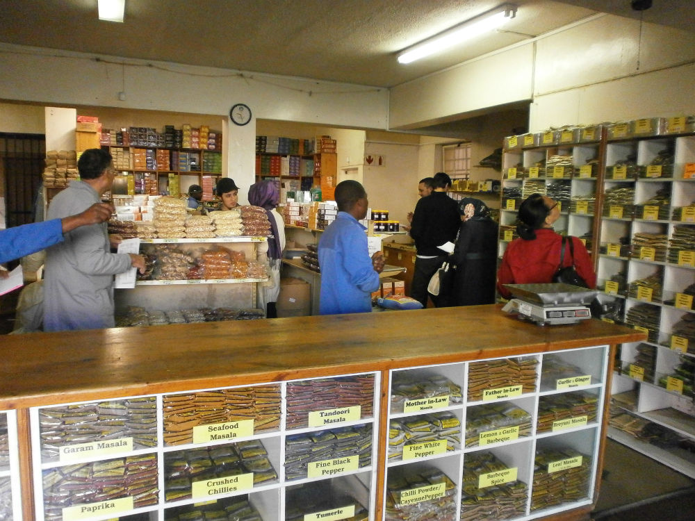 Students in Atlas Spice shop finding spices as part of their lesson.