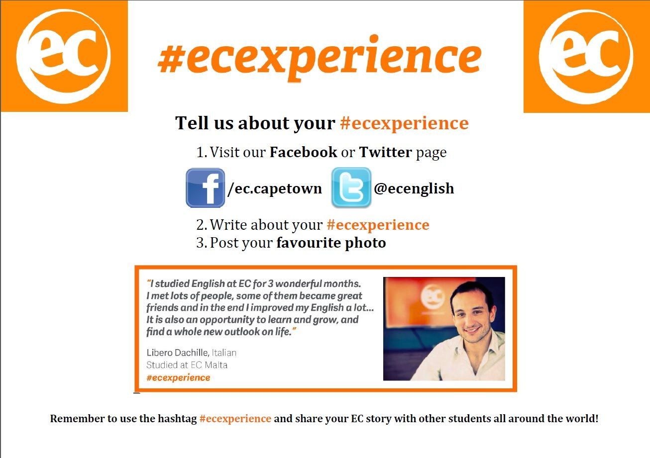 #ecexperience poster